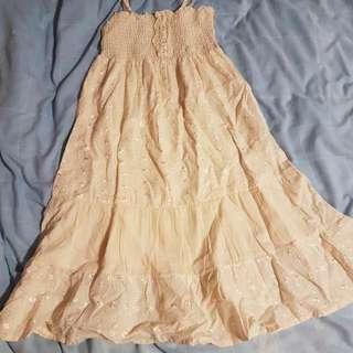 Cream Summer Dress Size S