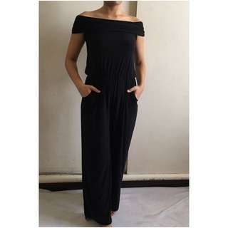 Off Shoulder Jersey Jumpsuit