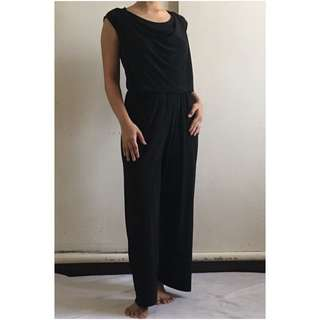 Cowl Neck Jersey Jumpsuit