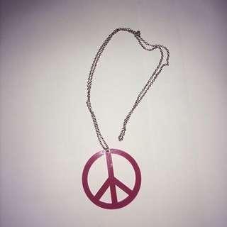 Peace Fuchsia Necklace