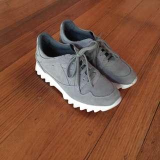 Zara Suede Runners Sneakers Flatform 38