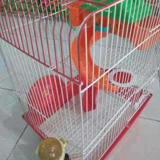kandang hamster 2 tingkat