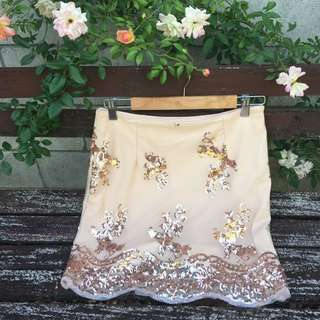 Rose Gold Sequinned Skirt