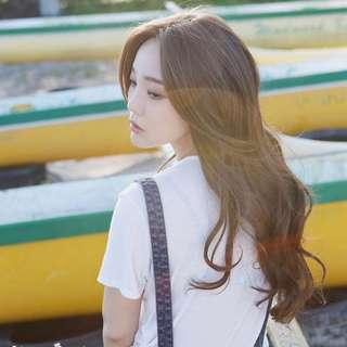 Wig Rambut Palsu Panjang Dark Brown FREE Hairnet