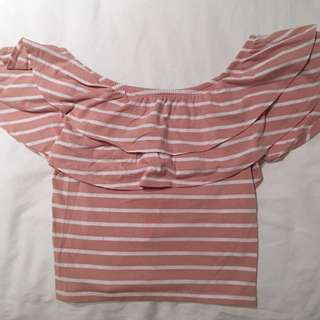 Off The Shoulder Crop Top Size 6