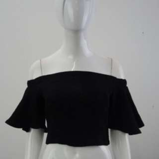 Black Off Shoulder Crop