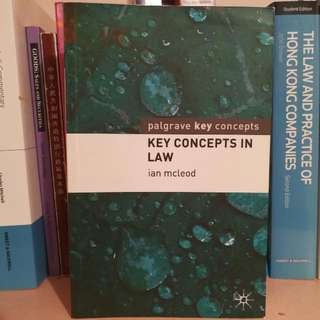 Key Concepts In Law - Ian McLeod