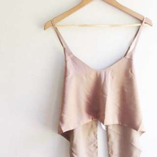 Bronze/Gold Cross Back - Backless Singlet Crop