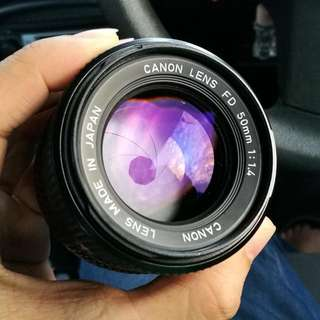 Canon New FD 50mm f1.4 Excellent Condition