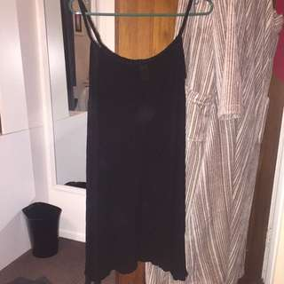 Black Dress With Plaited Straps