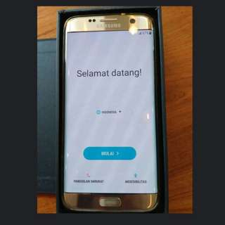 Samsung Galaxy S7 Edge SEIN Gold Masih Garansi 98% Mint