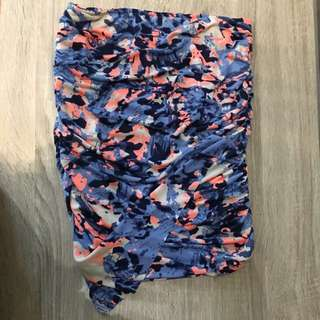 Ruched Floral Colour Skirt Size Small