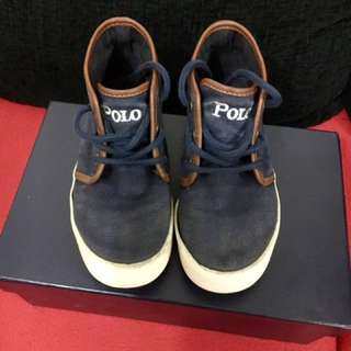 Polo Ralph Lauren Kids Ethan Mid Lace-Up Sneaker
