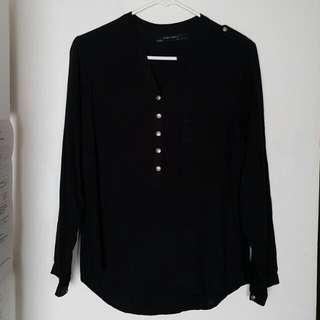 Zara Basic Black Polo