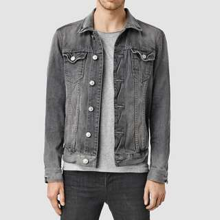 Oversized Top Shop Men Grey Denim Jacket
