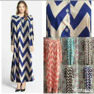 Long Dress Chevron New