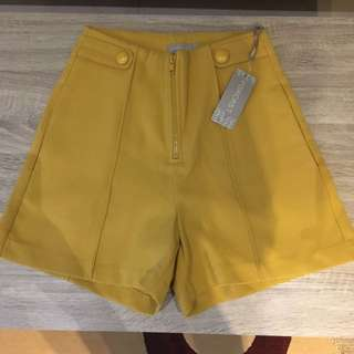 Brand New Forecast Mustard Shorts With Pockets Size Small