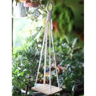 DS002 Hanging Paulownia Wood Shelf (Plant not included)