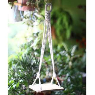 DS003 Hanging Paulownia Wood Shelf (Plant not included)