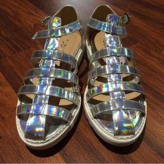 Holographic Sandals