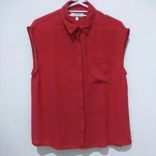 Cotton On Red Sleeveless Blouse