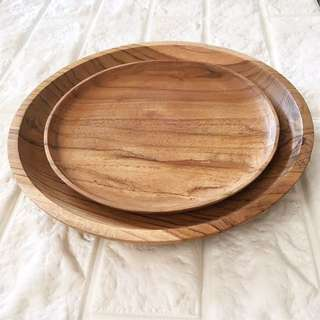Wooden Plates Sets