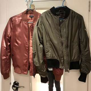 Topshop Padded Bomber Jackets