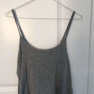 Grey Spaghetti Top