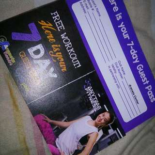 Anytime Fitness 7 Day Pass For Two At Araneta Branch Only