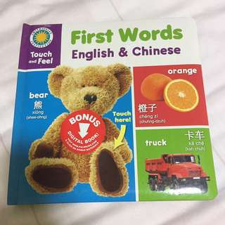 First Words English & Chinese Book