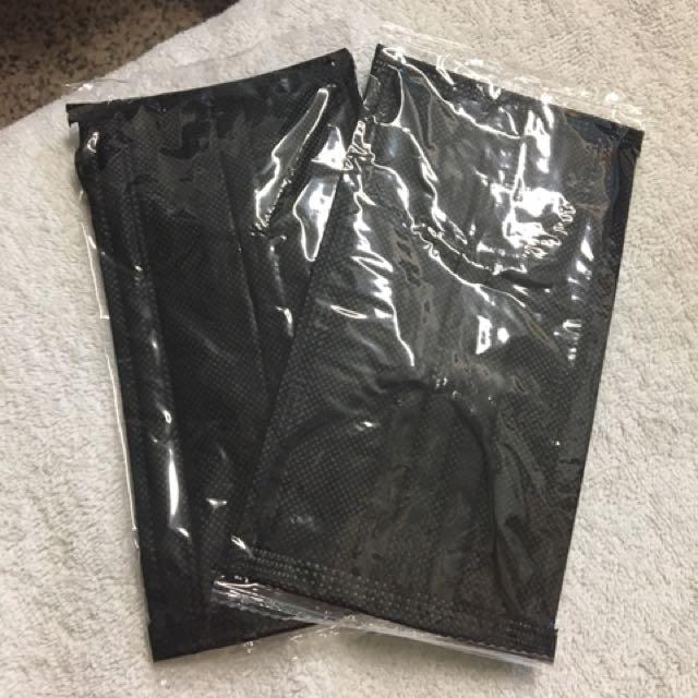 獨立包裝三層黑口罩(5入)