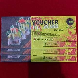 Voucher De' Sushi Jakarta (Free Ongkir Jabodetabek)
