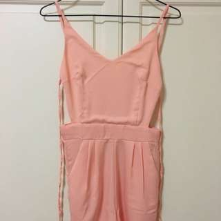 Backless, Pink Jumpsuit