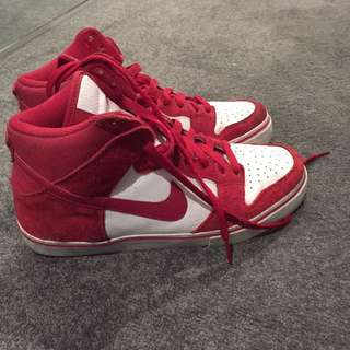Nike US 8/41 High Ankle Red Shoes