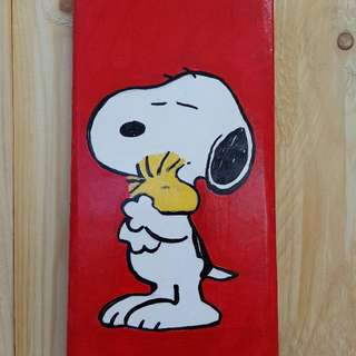 Snoopy wooden wall decoration