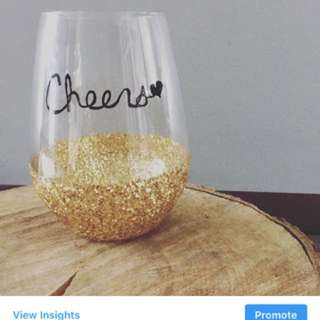 Glitter Seamless Wine Glasses