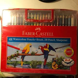 Brand New - Faber Castell Water Coloured Pencils - 48 Colours