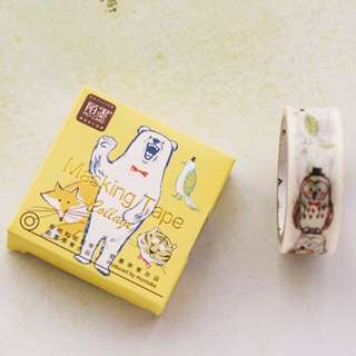 (Mix & Match)*Animal Collage Theme Washi Tape