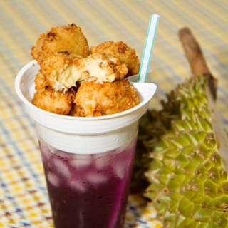 Fried Durian Icecream & Popcorn Chicken