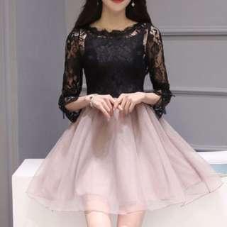 喜宴款蕾絲蓬裙洋裝
