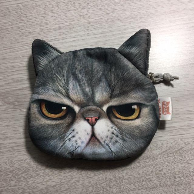 厭世貓臉小零錢包