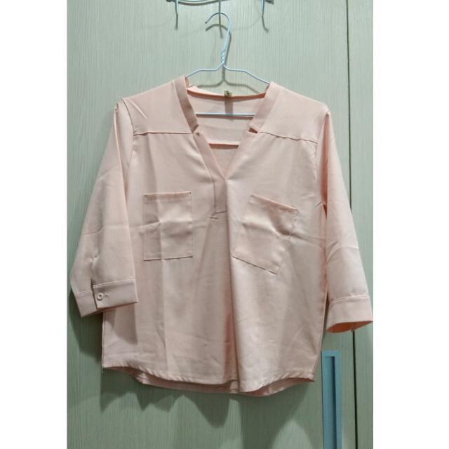 韓版氣質雪紡襯衫