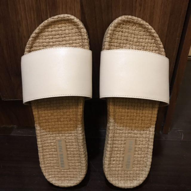 韓國麻編拖鞋