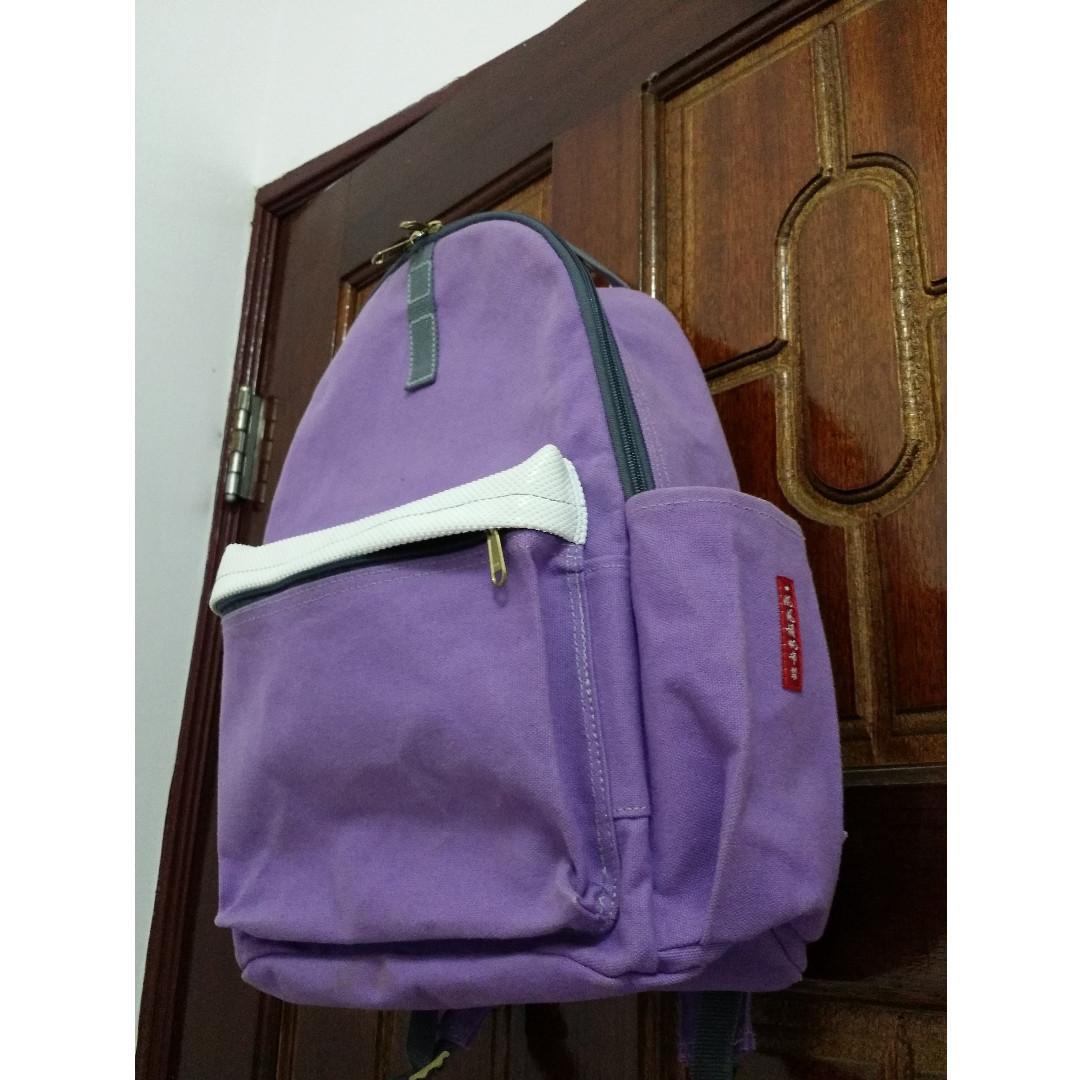 台中大甲 【一帆布包】  紫色後背包