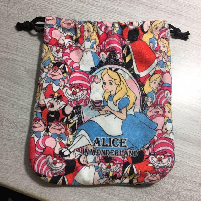 愛麗絲夢遊仙境 束口袋 小物 迪士尼