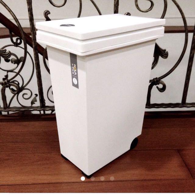 北歐白按壓式垃圾桶 廢紙桶 Hola home