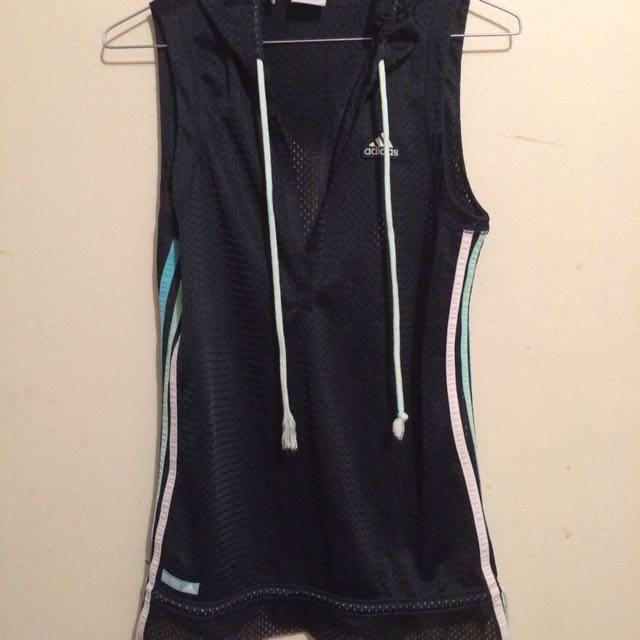 Adidas Hooded Mesh Sleeveless Sz 12