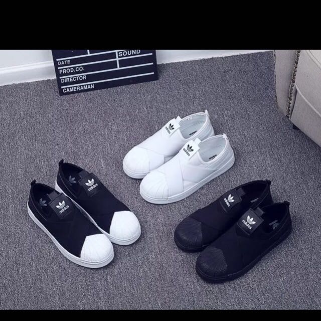 Adidas Slip On Tumblr Sneakers Loafers Ulzzang Harajuku Shoes Basic Shoes  Trendy Korean 5f7d4626a