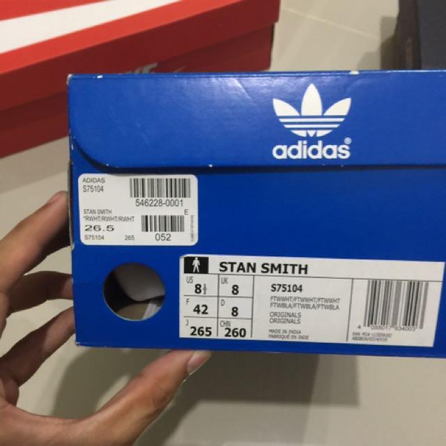 ADIDAS STAN SMITH ALL WHITE (USED)