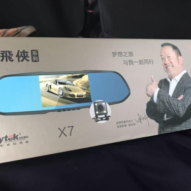 Anytek X7 Dual Lens Auto DVR camera car video recorder rearview mirror 1080p